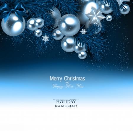 Elegant Hintergrund mit Weihnachtsgirlande. Vektor-Illustration