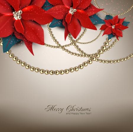 Elegante Hintergrund mit Weihnachten Girlande. Vektor-Illustration