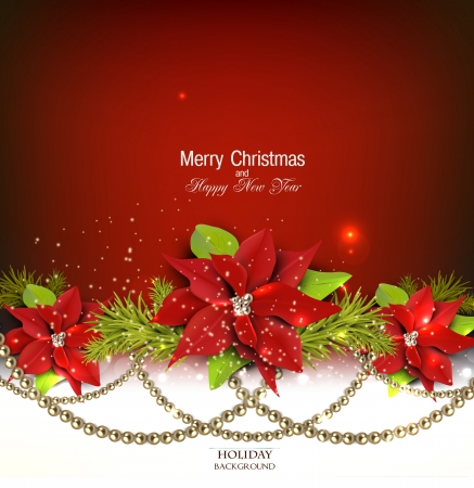 Elegante achtergrond met slinger van Kerstmis. Vector illustratie