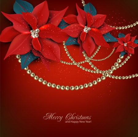 Elegant  background with Christmas garland. Vector illustration Vector