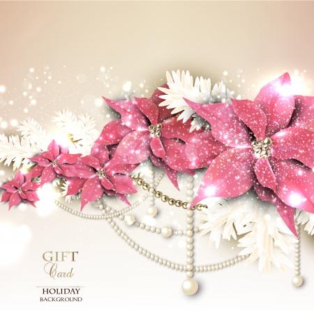 elegante: Elegante sfondo con la ghirlanda di Natale. Illustrazione vettoriale