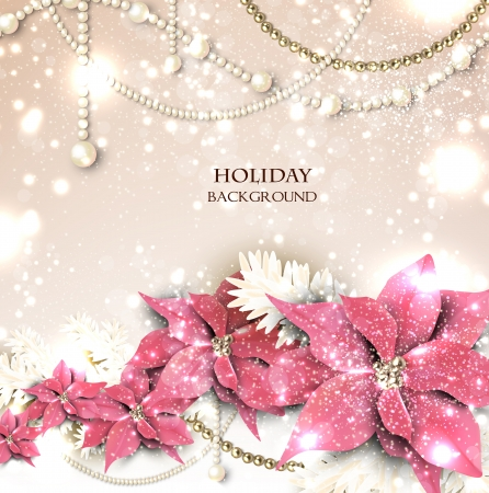 festive season: Elegant  background with Christmas garland. Vector illustration Illustration