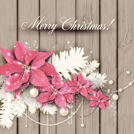 Elegant  background with Christmas garland. Vector illustration Illusztráció
