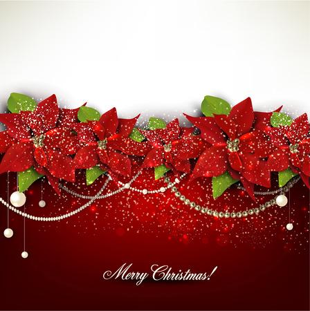 Elegant  background with Christmas garland. Vector illustration Illustration