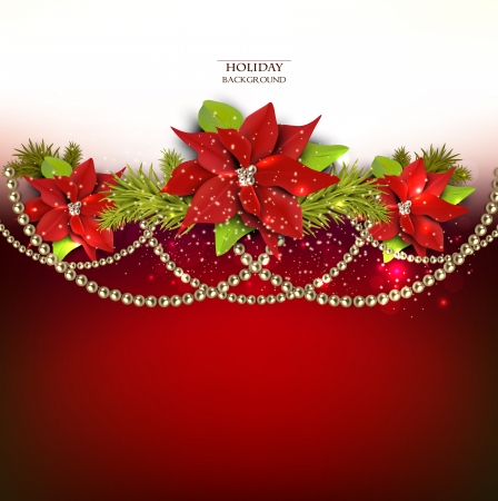 Elegant  background with Christmas garland. Vector illustration Illusztráció