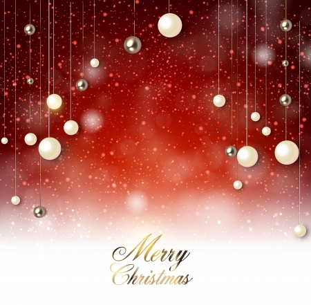 Elegant  background with snow and Christmas garland. Vector illustration
