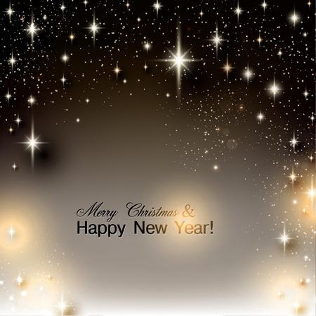 Elegante Sternen Weihnachten Hintergrund mit Platz für Text. Vektor-Illustration.
