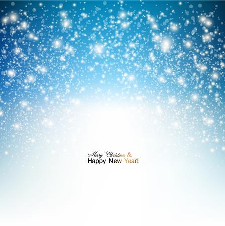 エレガントなクリスマス背景に雪、テキストのための場所。ベクトル イラスト。
