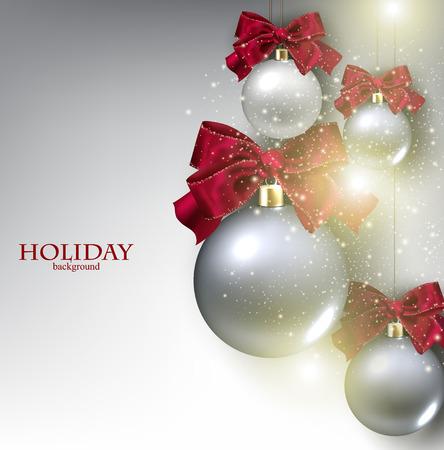 Weihnachten Hintergrund mit Kugeln. Weihnachtskugeln.
