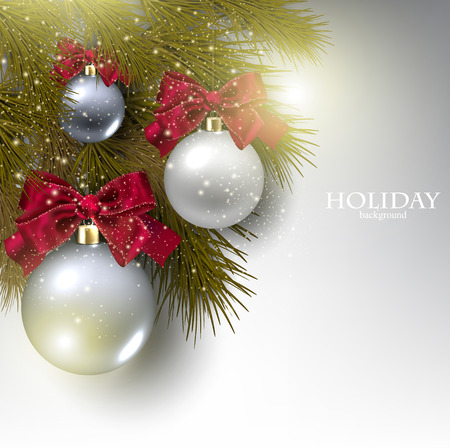 Christmas background with balls. Vector