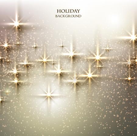 white christmas: Elegant Kerst achtergrond met sterren. Vector illustratie