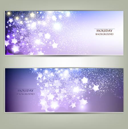 Elegant Christmas background with stars. Vector illustration Vector