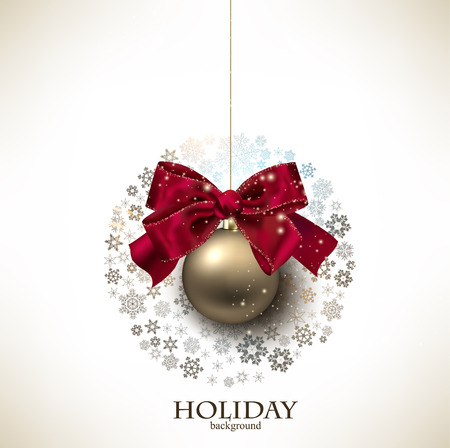 Christmas ball made from snowflakes. Christmas background Vector