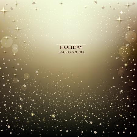 Elegant Christmas background with stars. Vector illustration Иллюстрация