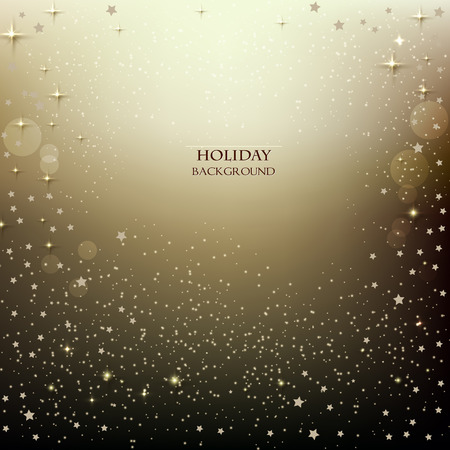 Elegant Christmas background with stars. Vector illustration Vettoriali