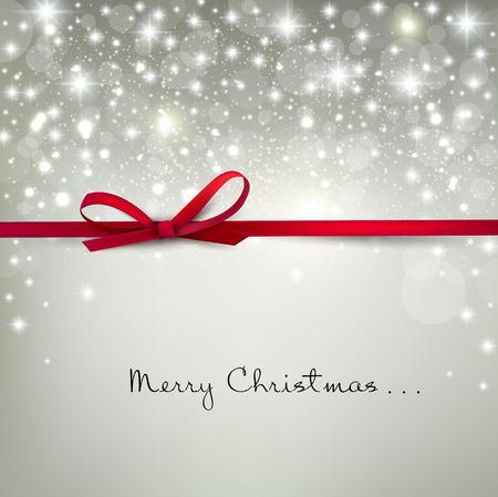 Elegant Jul bakgrund med snöflingor och plats för text. Vector Illustration.