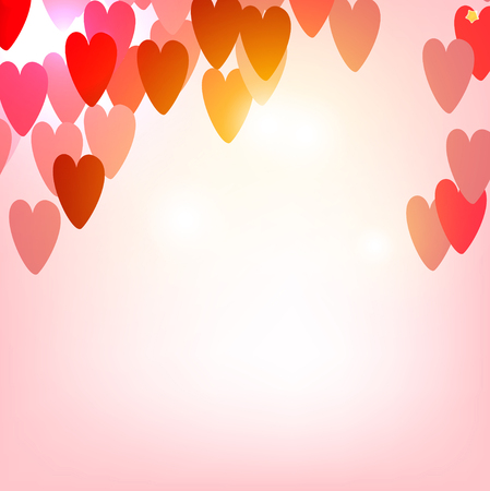 Elegant background with vector hearts. Valentines Day Illustration