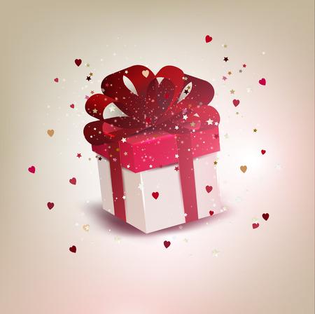 Elegant background with gift box. Vector illustration.