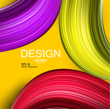 Abstract vector background. Colorful  curve image for screen, background. Design  for electronic device