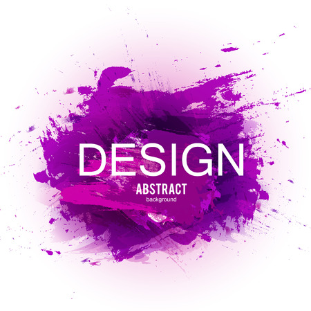 Abstract vector background. Colorful  watercolor stain image for screen, background. Design  for electronic device