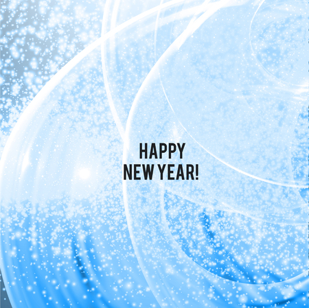 Elegant blue shining Christmas background with snowflakes and place for text. Vector Illustration.