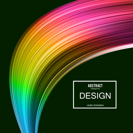 Abstract vector background. Rainbow curve image for screen, background. Design  for electronic device Illusztráció
