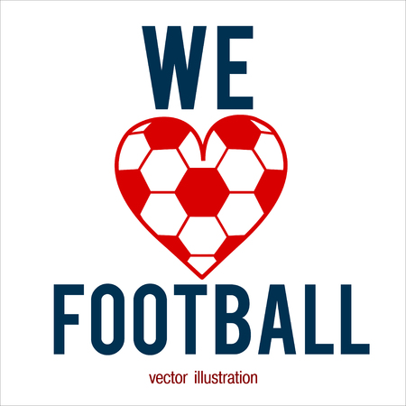 Football abstract background. Heart design like print for ball. Design template for Football championship. Vector illustration.