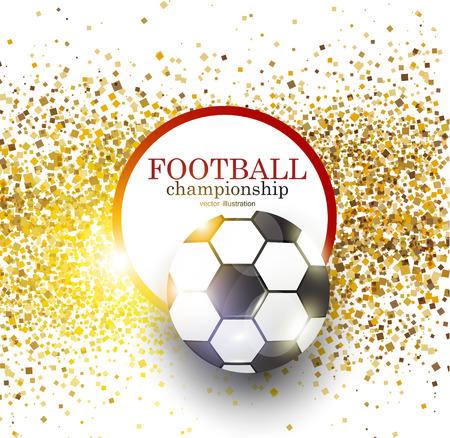 Football abstract background. Design template for Football championship . Vector illustration. Illusztráció