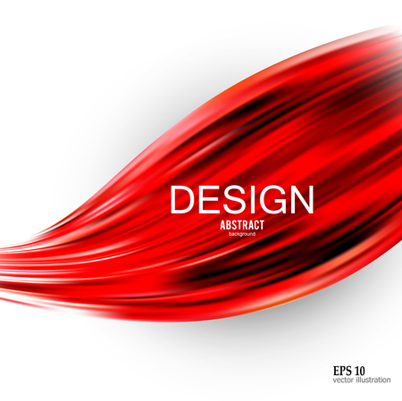 Abstract vector background. Design  for electronic device. Red wave Ilustracja