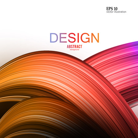 Abstract vector background. Colorful  curve image for screen, background. Design  for electronic device Stock fotó - 114082243