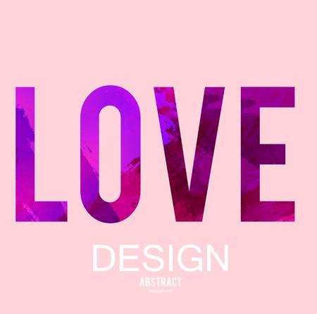 Stylized letters  Love. Vector background. Illusztráció