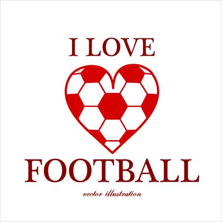 Football abstract background. Heart design like print for ball. Design template for Football championship. Vector illustration. Stock fotó - 114082325