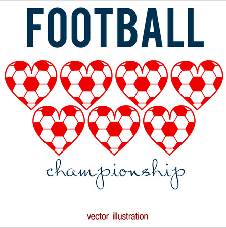 Football abstract background. Heart design like print for ball. Design template for Football championship. Vector illustration. Stock fotó - 114082327