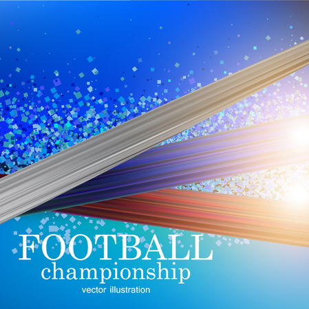 Football abstract background. Design template for Football championship . Vector illustration. Stock fotó - 114082340
