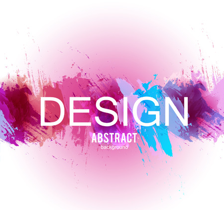 Abstract vector background. Colorful  watercolor stain image for screen, background. Design  for electronic device Stock fotó - 114082352
