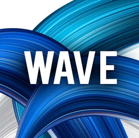 Abstract vector background. Blue curve image for screen, background. Design  for electronic device Stock fotó - 114082361