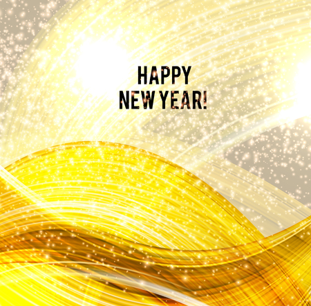 Golden Christmas background with snowflakes and place for text. Vector Illustration. Stock fotó - 114082422