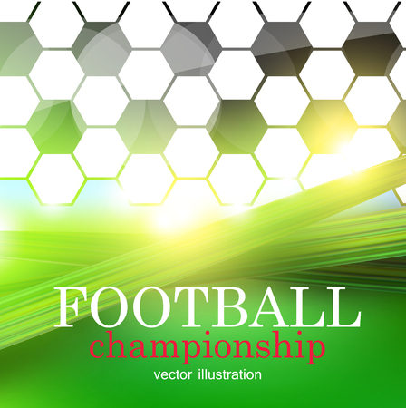 Football abstract background. Design template for Football championship . Vector illustration. Ilustracja