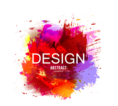 Abstract vector background. Colorful  watercolor stain image for screen, background. Design  for electronic device Stock fotó - 114082612