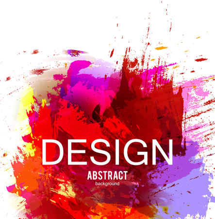 Abstract vector background. Colorful  watercolor stain image for screen, background. Design  for electronic device Stock fotó - 114082622
