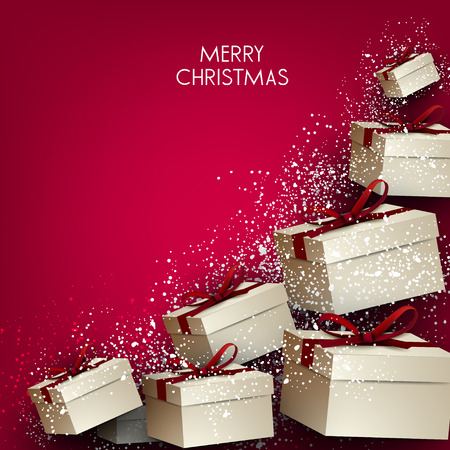Elegance background with Christmas gifts