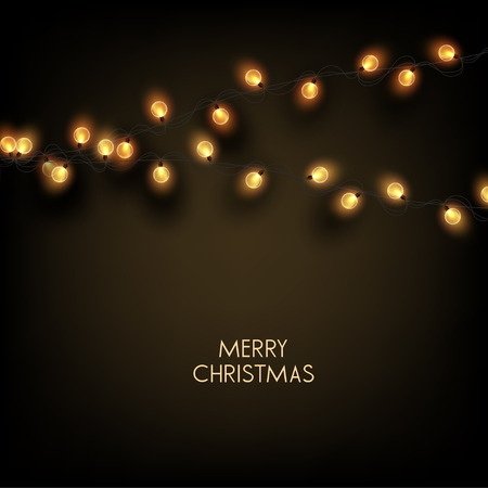 Merry Christmas  greeting vector illustration with golden bulbs and text Stock fotó - 114082684