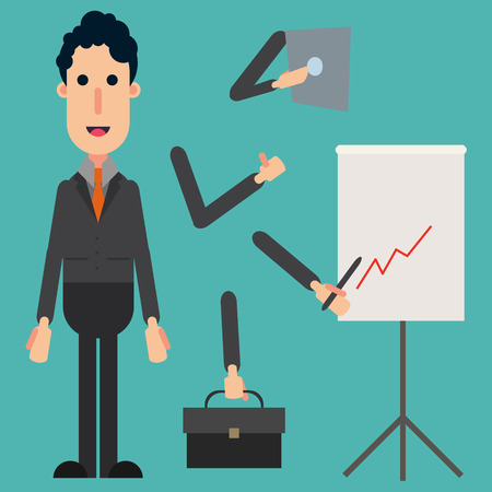 sociologist: Businessman Character Set