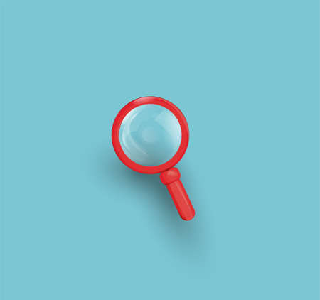 Search Red Icon Loupe. Magnifier. Vector illustration. Search Icon. Illustration
