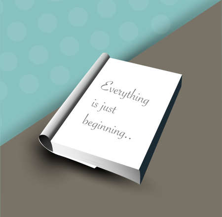 Book template design. Vector illustration.