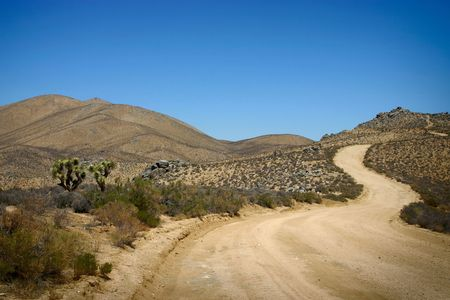 Jawbone Canyon Road in the Mojave Desert photo