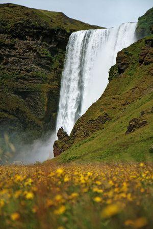 skogafoss waterfall: Skogafoss waterfall Stock Photo