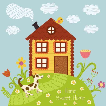 Home sweet home illustrazione vettoriale