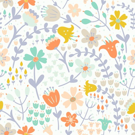 fills: Elegant floral seamless pattern. Vector texture in pastel tender colors great choice for wrapping, textile, wallpaper, cloth design and other pattern fills