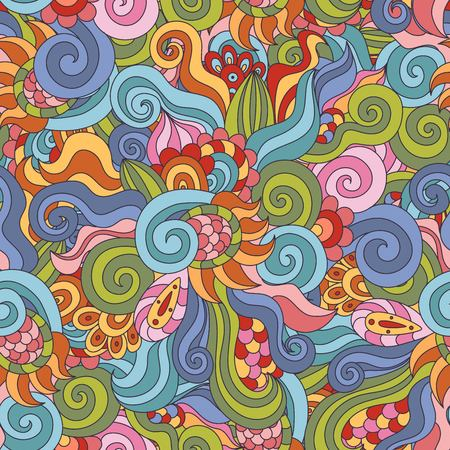 psychoanalysis: Colorful seamless pattern. Awesome abstract wavy texture. Vector illustration Illustration